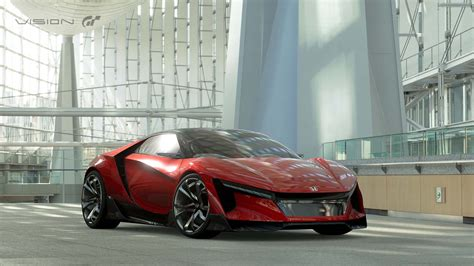 honda sports honda s baby nsx emerges as sports vision gran turismo concept