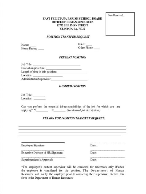 transfer request form 5 transfer forms free sle exle format