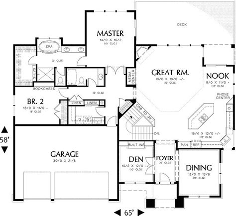 modern house floor plans picture cottage house plans