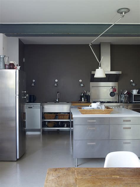 grey walls in kitchen extravgant sainless steel grey walls in kitchen modern