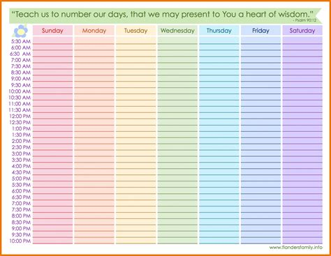 daily calendar template 2018 with hours printable weekly calendar with hours printable calendar 2018