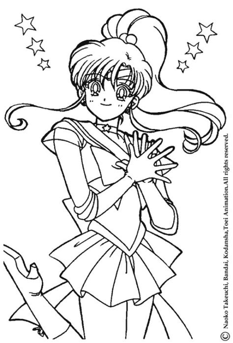 sailor jupiter the warrior coloring pages hellokids com