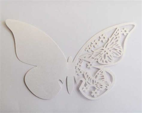 Butterfly Paper Place Card Lavender Isi 12 Pcs free shipping 12pcs one color white gold purple pink