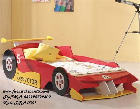 Kasur Mobil Balap tempat tidur anak mobil f1 toko furniture cantik jepara
