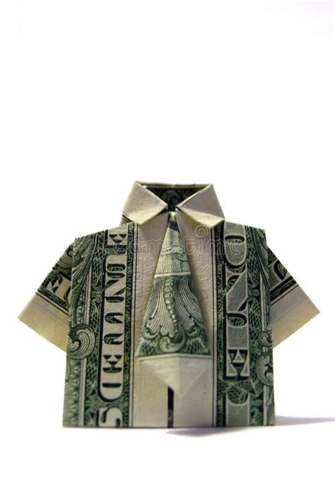 Shirt And Tie Origami - origami shirt tie stock photo image of shirt origami