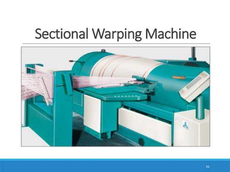 sectional warping process textile warping