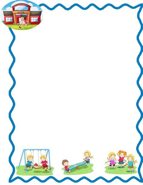 bordes de pagina colouring pages marcos infantiles escolares para hojas imagui bordes