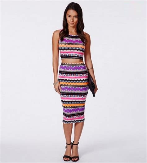 One Set Rok Midi crop tops and midi skirt sets from the runway to real