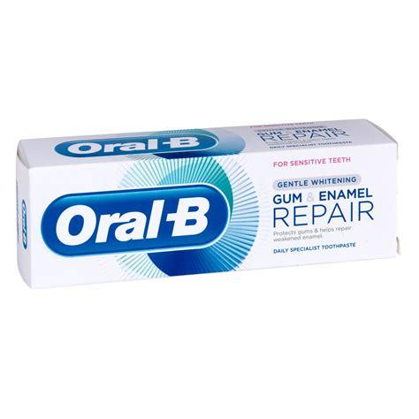 toothpaste whitening oral b gum and enamel repair gentle whitening toothpaste