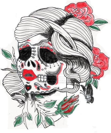 sugar skull tattoo design photos sugar design skull tattoosugar design skull