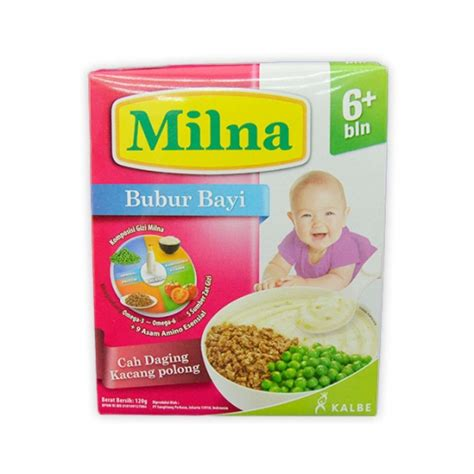 Milna Goodmil Bubur Bayi 6 Bln Beras Merah Pisang detil produk milna bubur bayi 6 120 gr box 5 pilihan rasa