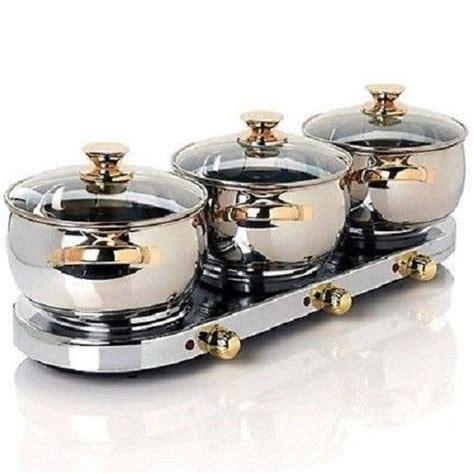 command performance 3qt triple burner buffet set 965020