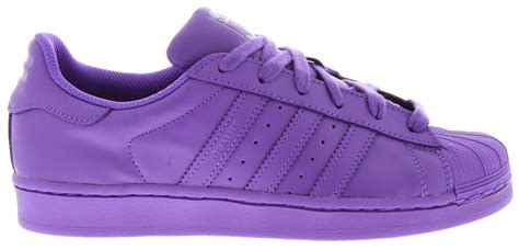 purple adidas sneakers adidas adidas x pharrell supercolour superstar sneakers in