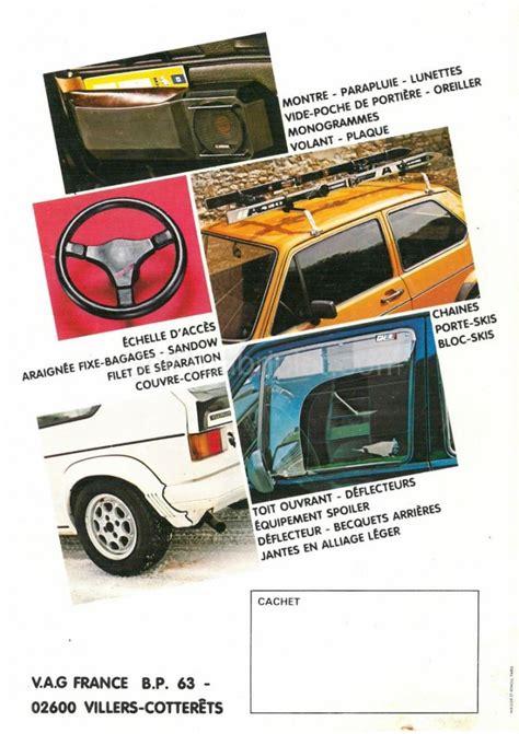 Wohnaccessoires Aus 1982 by Accessoires Vw Golf 1 1983 Fr Golf1cabriolet
