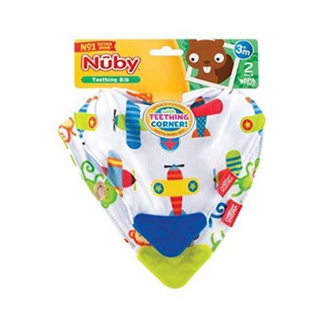 Nuby Teething Bib Corner Blue booginhead teether bib baby