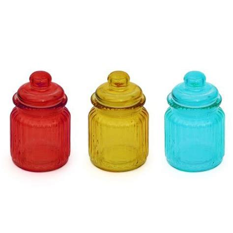 colored kitchen canisters kaanch colored canister red blue light yellow set of three pieces canisters jars kitchen