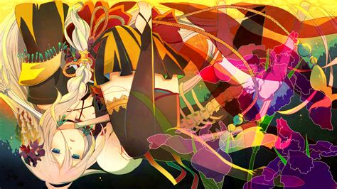 japanese anime upside down vocaloid full hd wallpaper and background image