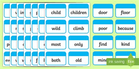 year 2 common exception words flashcards flashcards