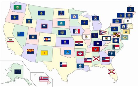 50 U S States And Territories flags of the u s states and territories