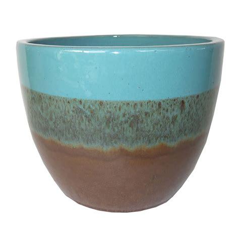 Lowes Planters Ceramic by Shop Garden Treasures 10 63 In X 9 65 In Ceramic