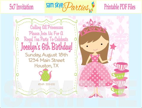 amazon com princess birthday party invitations fill in style