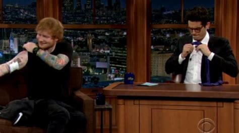 tattoo ed sheeran and john mayer ed sheeran and john mayer s tattoo reveal on late late