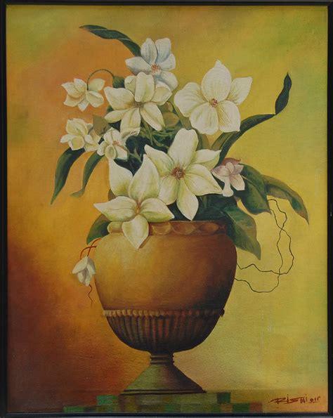 Painting Of Flower Vase by Flower Vase 19 5 X 23 Vertical Floral Painting Framed
