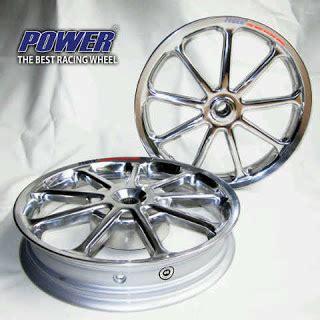 Velg Pelek Racing Lebar Power Sun Mio Soul Gt 125 Palang 9 Chrome il motor lubeg padang velg bintang tapak lebar