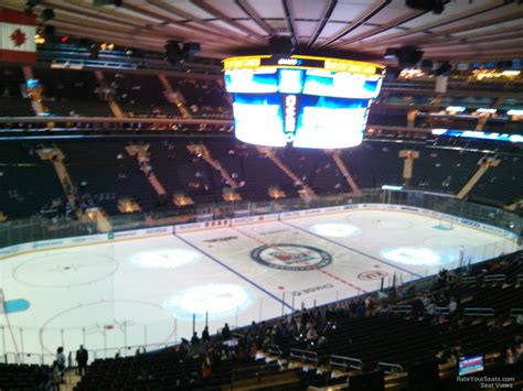 section 6 hockey madison square garden section 209 new york rangers