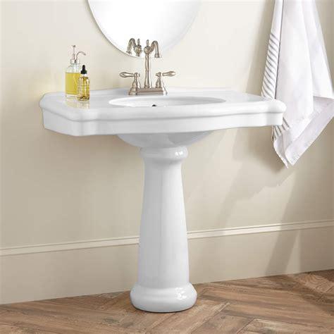 kacy porcelain pedestal sink white pedestal sink signature hardware