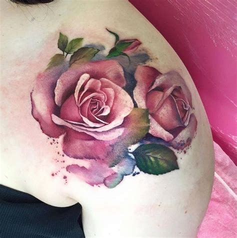 tutorial watercolor tattoo the 25 best ideas about watercolor rose on pinterest