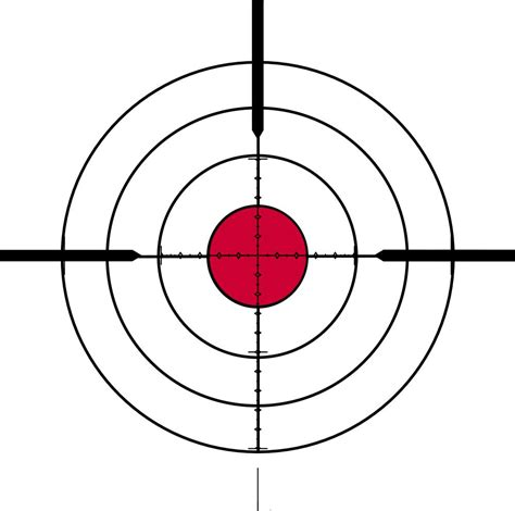 Printable Rifle Scope Targets | sighting in a mil mil scope the optics talk forums page 1