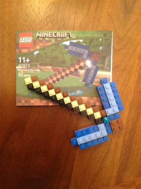 Handmade Minecraft - custom designed minecraft pickaxe lego mini build