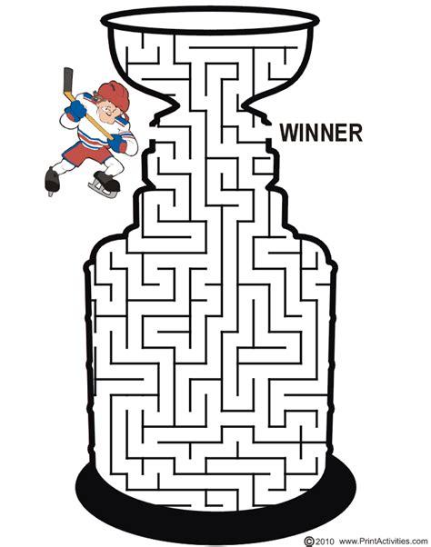 Printable Hockey Mazes | google image result for http www printactivities com