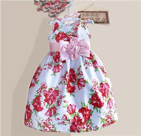 Zoe Pink Square Dress Anak jual ig 282 zoe pink flower dress baju pesta anak