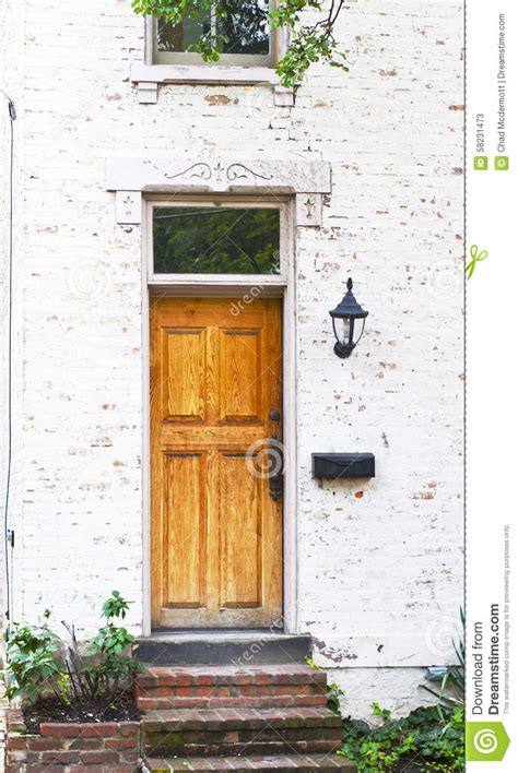 Exterior Doors Columbus Ohio Antique Front Door And Flower Bed Stock Photo Image 58231473