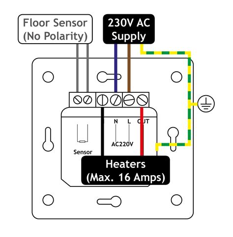 warmup underfloor heating thermostat wiring diagram choice