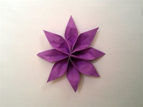 Floral Origami Paper - how to make origami paper flower 2 unit