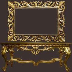 Meja Rias Rococo mirror rococo warna emas jepara market