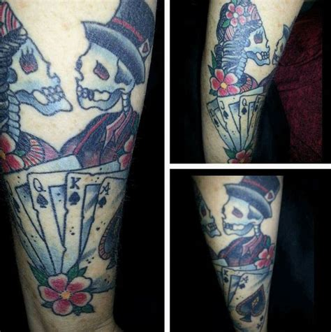 royal flush tattoo designs 99 best play images on ideas arm
