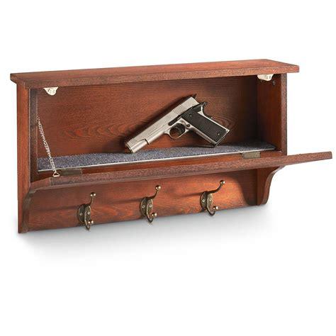 castlecreek gun concealment end table castlecreek gun concealment wall shelf with hooks 671299