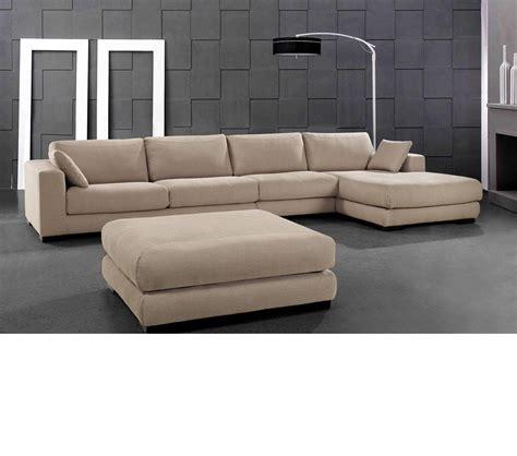 beige fabric sectional sofa dreamfurniture senza modern beige fabric sectional