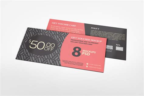reward cards template mockup gift voucher mockup on behance
