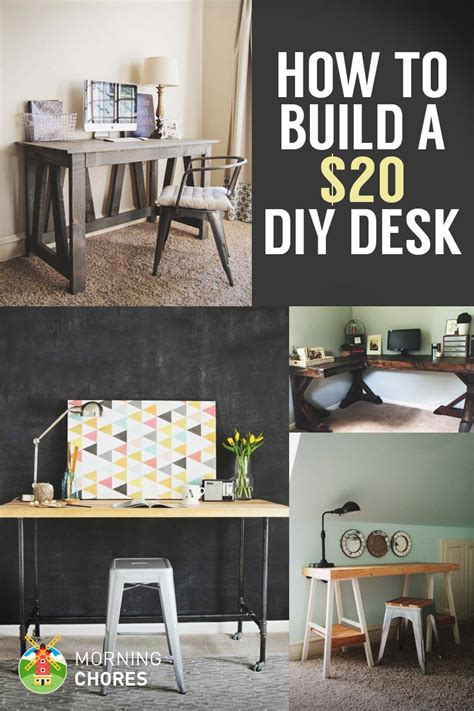 How To Build A Desk For 20 Bonus 5 Cheap Diy Desk Plans Diy Build A Desk