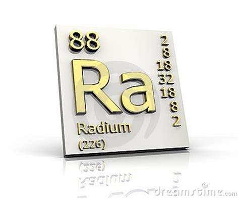 Ra Periodic Table by Radium Form Periodic Table Of Elements Royalty Free Stock