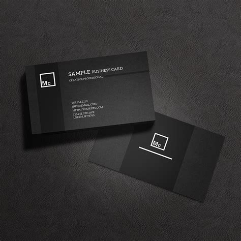 Great Business Card Black And Silver Template Free by Business Card Mock Up 3 By Macrochromatic On Deviantart