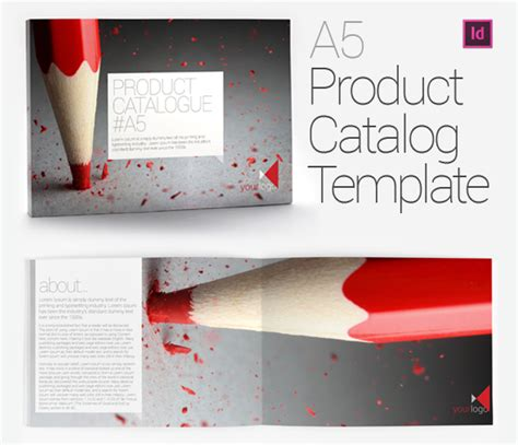 a5 product catalog brochure template on behance