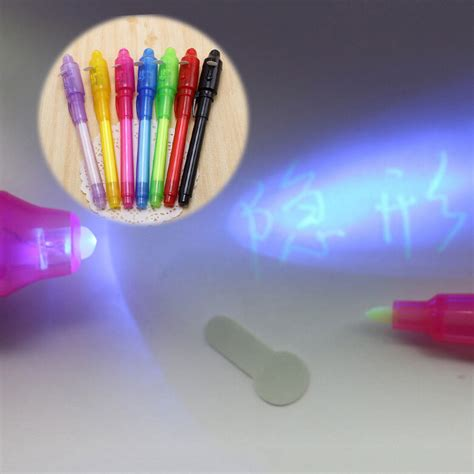 invisible ink black light 1pc 2 in 1 magic invisible ink pen uv black light combo