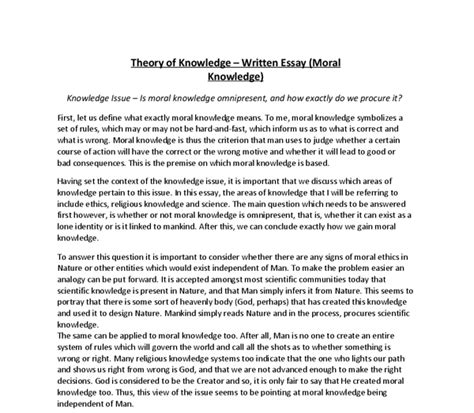 Theory Of Knowledge Essay Exles by Ib Theory Of Knowledge Essay Rubric Antitesisadalah X Fc2