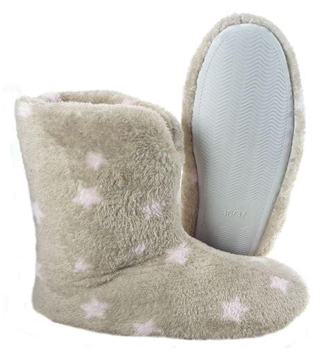 fleece slipper boots soft fleece slippers womens booties anti slip
